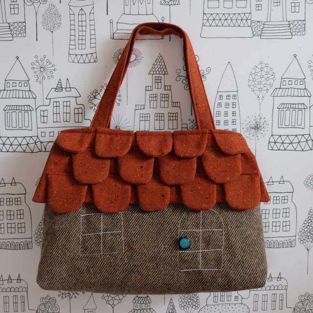 ouchi-bag   L  レンガオレンジうろこ屋根