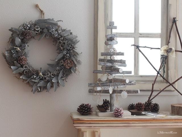ミンネのクリスマス2015*モノクロフォレストリース*31cm