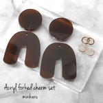 Clear chocolate(4pcs)Acryl forked charm set