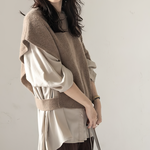 asymmetry knit vest