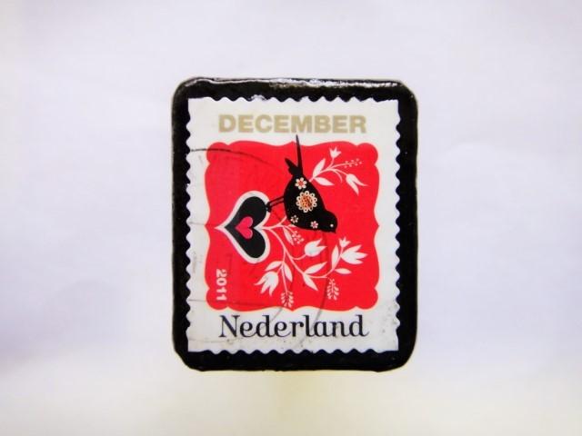 オランダ クリスマス切手ブローチ406