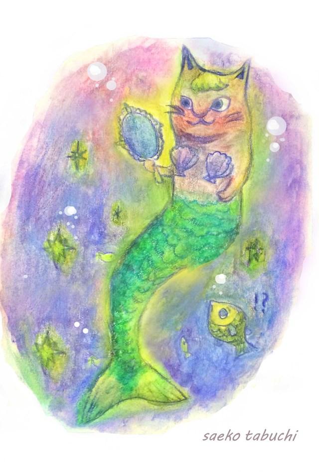 ねこ人魚 ポストカードセット