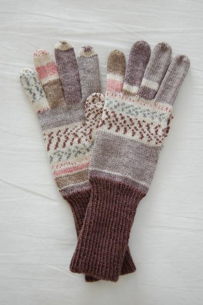 手編み5本指手袋 No.10【再販】