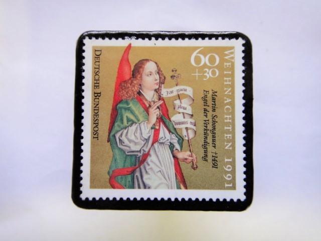 ドイツ クリスマス切手ブローチ415