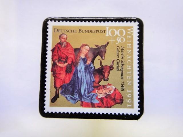ドイツ クリスマス切手ブローチ416