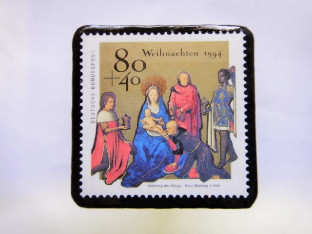 ドイツ クリスマス切手ブローチ421