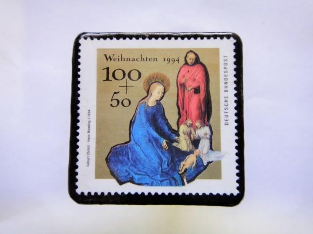 ドイツ クリスマス切手ブローチ422