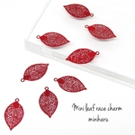RED(8pcs)Mini leaf race charm