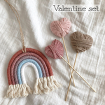 ♡Valentine rainbow + heart stick set ♡