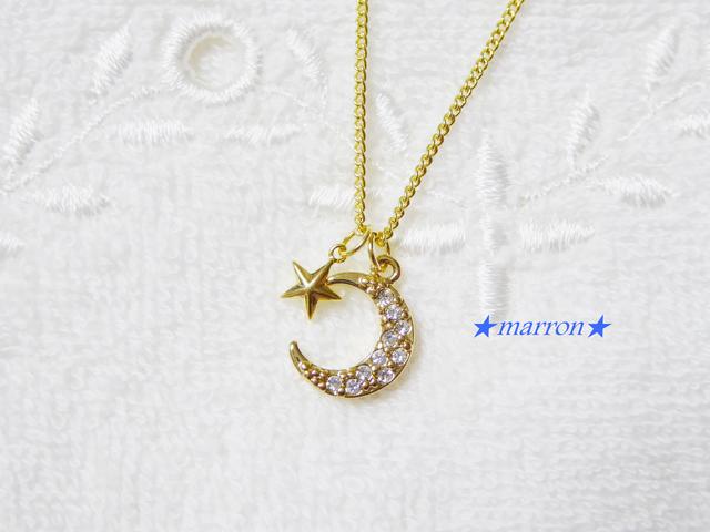 ?moon&starネックレス??