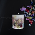 「Dried flowers.021.001」 Botanical candle