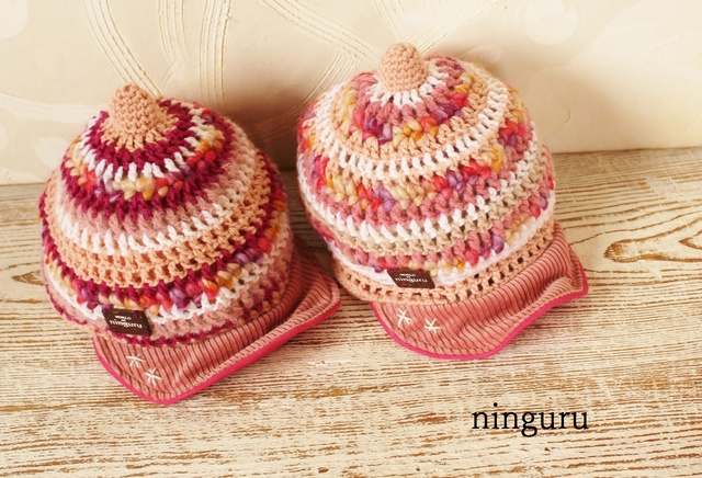 手編みのニット帽子KID'S(幼稚園児サイズ)☆オーダーメイド