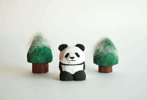 木彫り人形 ぱんだちゃん  [MWF-044]