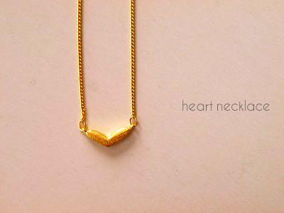 16k goldPlated heart �ͥå��쥹
