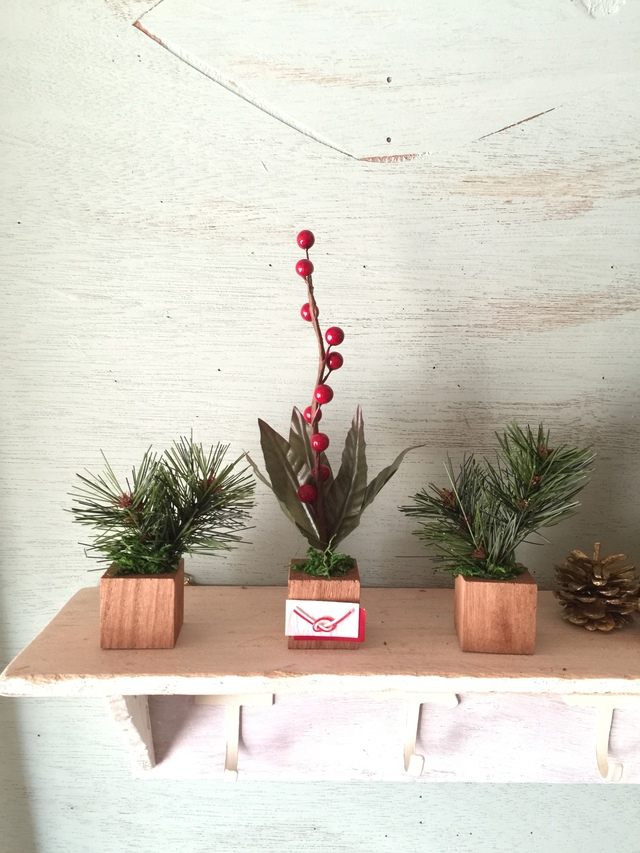 ☆小さな小さなちーさな植木鉢*お正月松南天