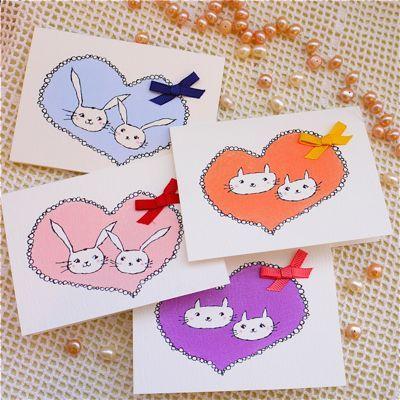 HEART CAT&RABBIT 4PC SET
