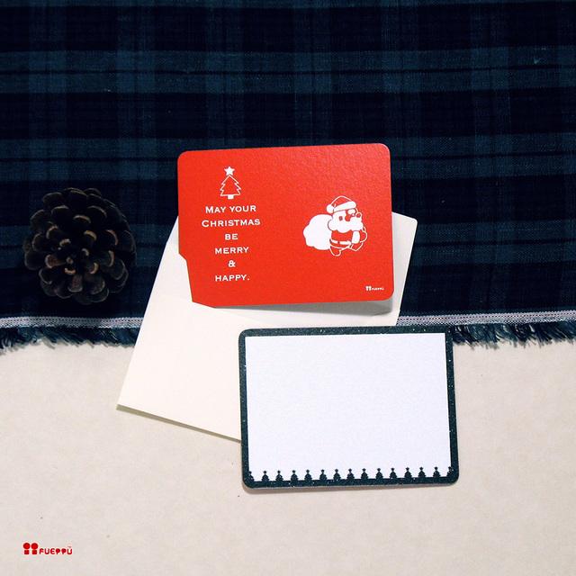 クリスマス用メッセージカード(封筒付...