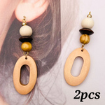 【chmm4123woos】【2個】antique style wood charm