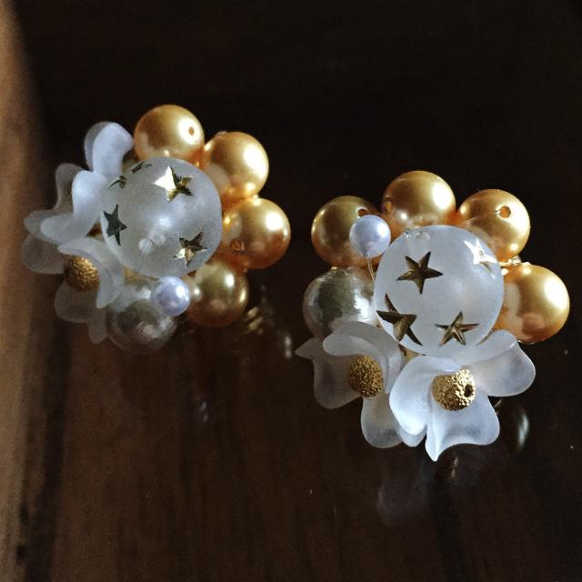 星と花のイヤリング