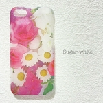 iPhone ケース ❤︎  Pink bouquet