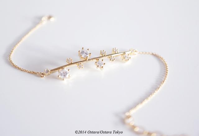 【14KGF】Bracelet,16KGP Cubic Zirconia Galaxy