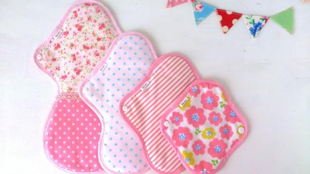 KAORUの布ナプキン全サイズが入ったset【ピンク】