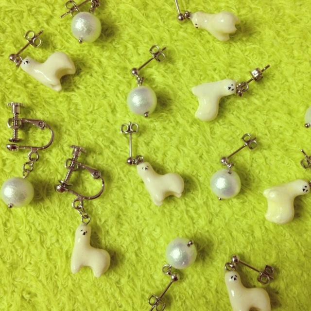 【再販】アルパカさんのイヤリング