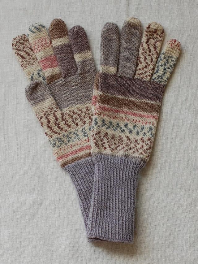 手編み5本指手袋 No.46