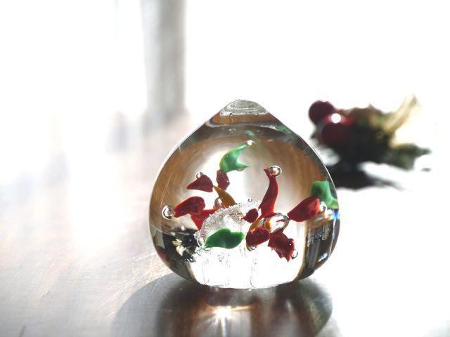 ガラスのポインセチア