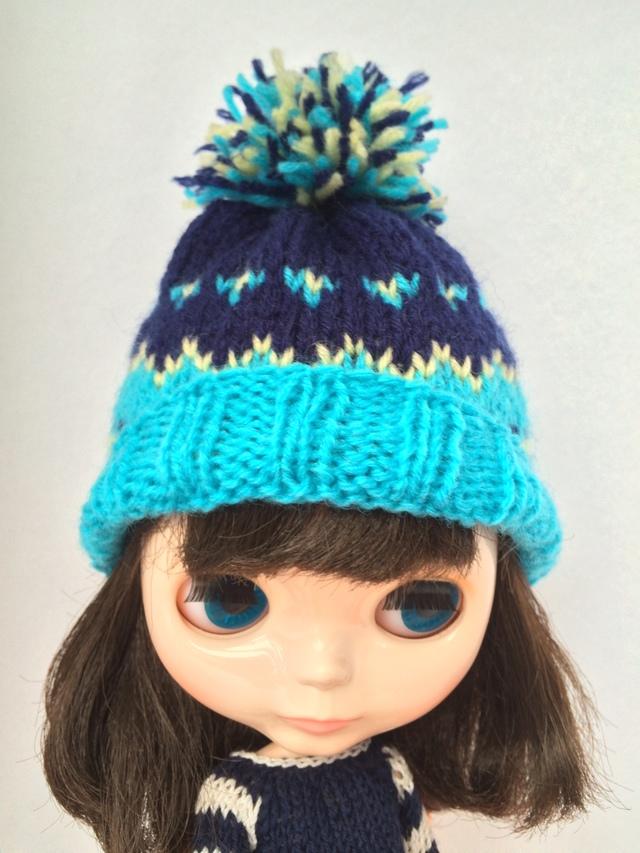 ブライス用毛糸の帽子?
