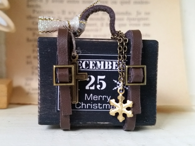 ミニトランク☆クリスマス☆ブラックB