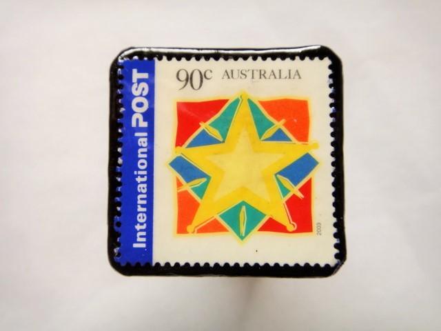 オーストラリア クリスマス切手ブローチ425