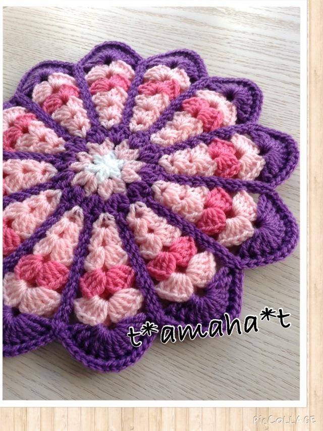 お花の座布団☆ピンクAND紫2**送料無料