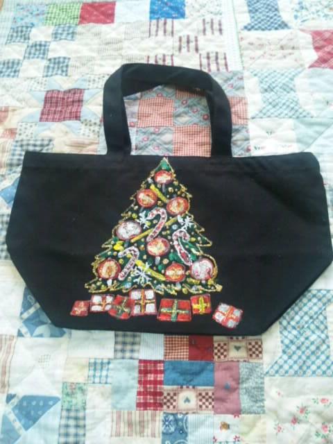 送料無料 クリスマスツリーのランチバッグ