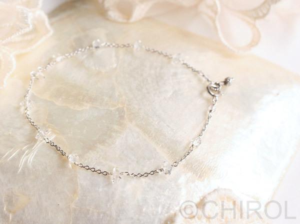 ・ハーキマーダイヤモンドのブレスレット・/SV925