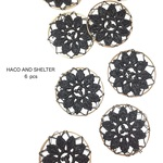 【NEW】6pcs★lace slim ring・black(レースリング)