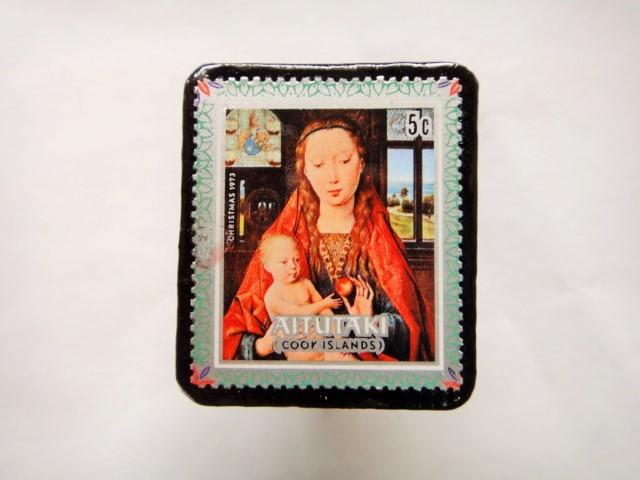 クック諸島 クリスマス切手ブローチ433