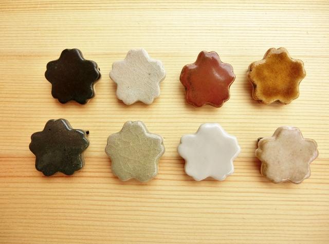 【2個セット】桜の陶ブローチ