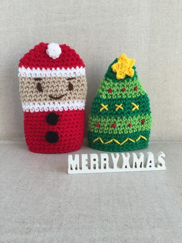 アクリル・エコたわし(クリスマス・セット)