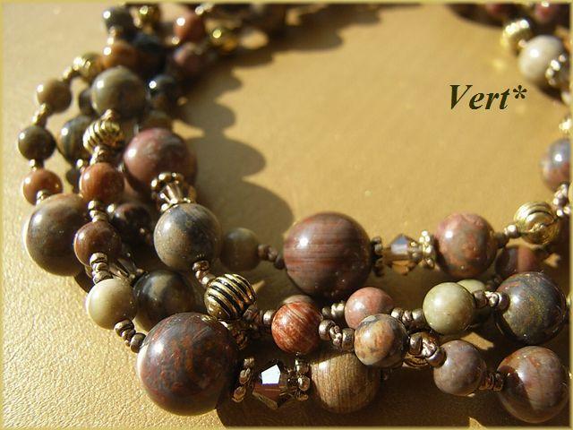 Vert* マルチカラージャスパーグリフィンロングネックレス2