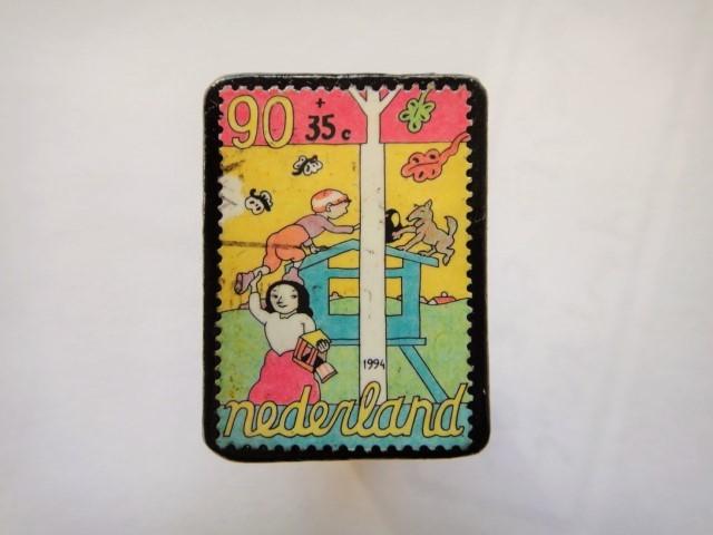 オランダ切手ブローチ446