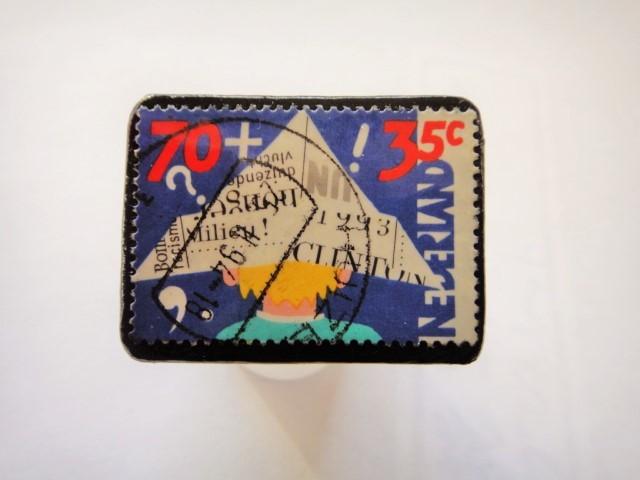 オランダ切手ブローチ448