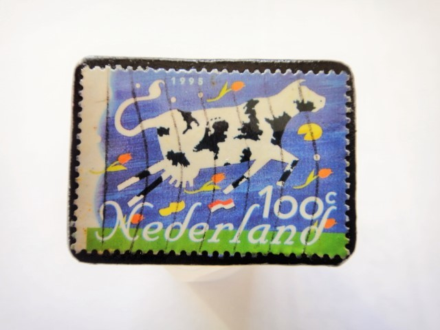 オランダ切手ブローチ450