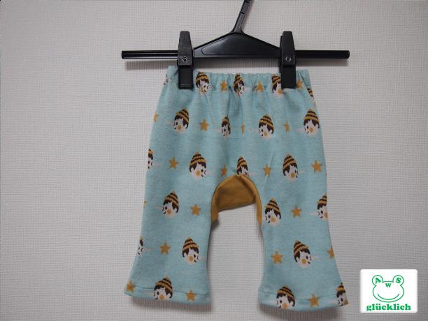 ブーツカットのモンキーパンツ/70サイズ/ピノキオ柄