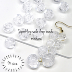 M(14pcs)Sparkling soda drop beads