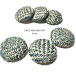 【NEW】6pcs★spring tweed cabochon・mannish(ツイードカボション)