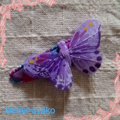 Xmas送料☆彡56 蝶のパッチンピン