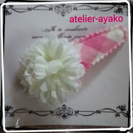 Xmas送料☆彡63 お花のパッチンピン