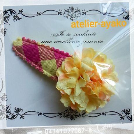新春送料☆彡67 お花のパッチンピン