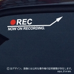 NOW ON REC/録画中ステッカー:アロー右上WH